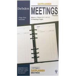 Debden Dayplanner Refill Meetings 96X175Mm Personal