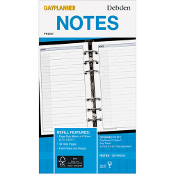 Debden Dayplanner Refill Notes 96X175Mm Personal