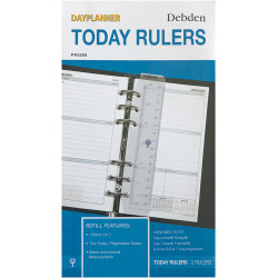 Debden Dayplanner Refill Today Ruler 96X172Mm Pack Of 2