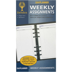 Debden Dayplanner Refill Assignment Pages 172X96Mm Personal