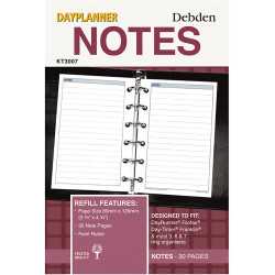 Debden Dayplanner Refill Notes 80X120Mm