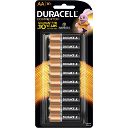 Duracell Coppertop Battery AA Pack of 10
