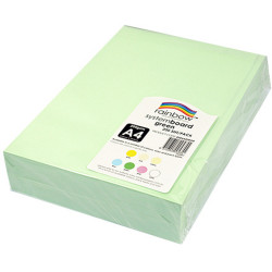 Rainbow System Board A4 200gsm Green Pack of 200