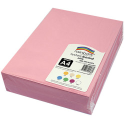 Rainbow System Board A4 200gsm Pink Pack of 200