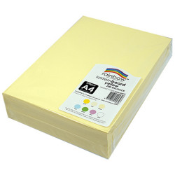 Rainbow System Board A4 200gsm Yellow Pack of 200