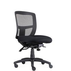 RAPIDLINE OPERATOR CHAIR Ergonomic Mesh Back Fabric Seat Black