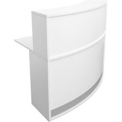 Modular Reception Counter Circular Shape Full Height Hob 1160Hx1339Wx872mmD White
