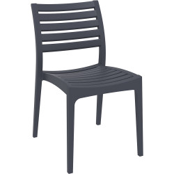 Ares Hospitality Dining Chair Indoor/Outdoor Use Stackable Antracite Polypropylene