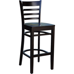 Florence Indoor Barstool  Solid Timber Chocolate Frame Chocolate Timber Seat