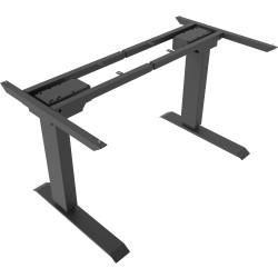 Elevar Electric Heavy Duty Sit Stand Desk Frame 3 Stage Dual Motor 120kg Load Black