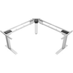 Elevar Electric Heavy Duty Sit Stand Corner Desk Frame Triple Motor 150kg Load Black