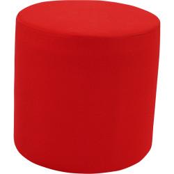 Lava Lounge Breakout Ottoman Modular Round Shape Red