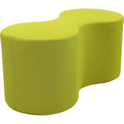 Lava Lounge Breakout Ottoman Modular Double Shape Green