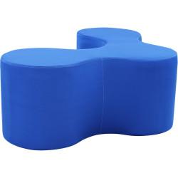 Lava Lounge Breakout Ottoman Modular Triple V Shape Blue