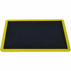 BUBBLE MAT 600MM x900MM Standing Anti Fatigue Black / Yellow Edge