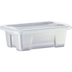 Italplast 1 Litre Plastic Storage Box Stackable With Handles Tranparent Graphite