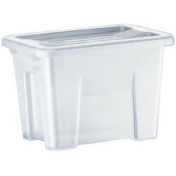 Italplast 2 Litre Plastic Storage Box Stackable With Handles Tranparent Graphite