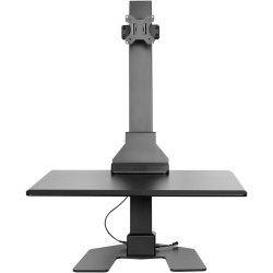 Ergovida Electric Desktop  Workstation Single Monitor Black