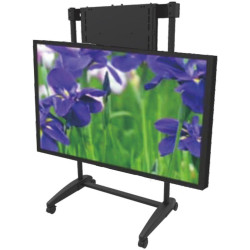 EasiLift Dynamic Height Adjustable Portable TV Stand Black
