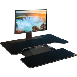 Standesk Pro Electric Desk Top Sit Stand Unit With 3 Button Memory Controller Black