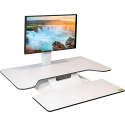 Standesk Pro Electric Desk Top Sit Stand Unit With 3 Button Memory Controller White