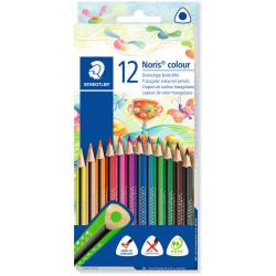 Staedtler Noris Triangular Colour Pencils Assorted Pack of 12