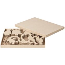 Zart Papier Mache Australian Animal Shapes Eight Assorted Designs Pack of 80