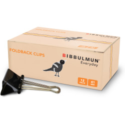 Bibbulmun Foldback Clip 41mm Box of 12