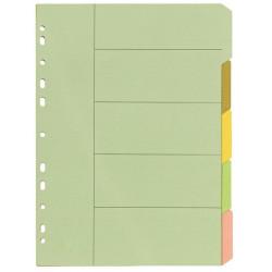 Bibbulmun Manilla Divider A4 5 Tab Plain Pastel Colours