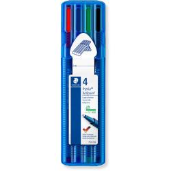 Staedtler 437 Triplus Ballpoint Pens Medium 1mm Assorted Pack of 4