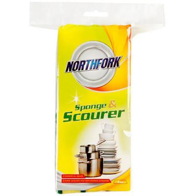 Northfork Sponge with Scourer Pack of 6