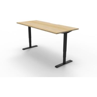 Boost Electric Height Adjustable Desk 1200Wx750D Oak Top Black Frame