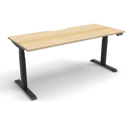 Boost Electric Height Adjustable Desk 1800Wx750D Oak Top Black Frame