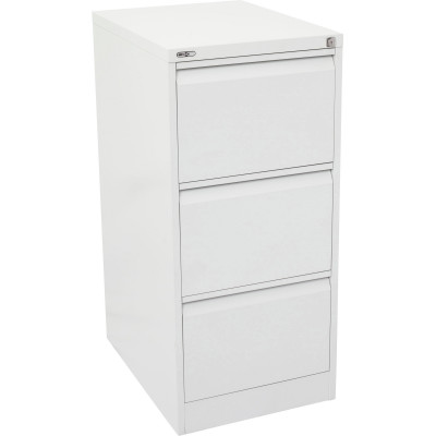 Go Steel 3 Drawer Filing Cabinet 1016Hx460Wx620mmD White