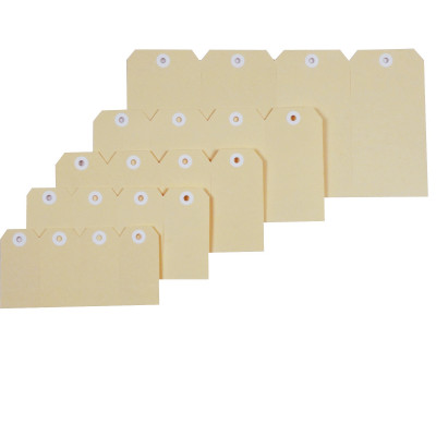 Esselte Shipping Tags No 2 40x82mm Buff Box Of 1000