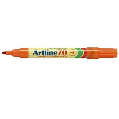 Artline 70 Permanent Marker Bullet 1.5mm Orange Pack Of 12