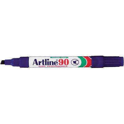 Artline 90 Permanent Marker Chisel 2-5mm Blue
