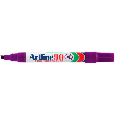 Artline 90 Permanent Markers Chisel 2-5mm Purple Box Of 12