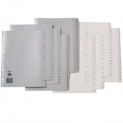 Marbig Plastic Divider A4 Indices 1-100 Grey