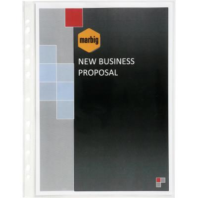 Marbig Sheet Protectors A3 Heavy Duty Ultra Clear Portrait Box Of 100