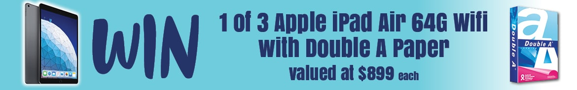 Win Apple Ipad Air with Double A Paper